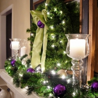 Christmas Lighting Ideas: Decorating the Mantel