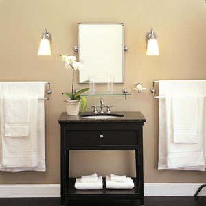 Attractive Lighting In Bathroom