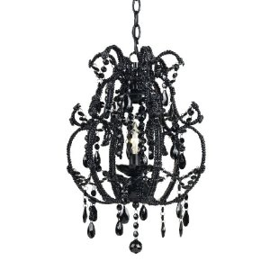 Black chandelier archives interior lighting optionsinterior mystic candle base mini black glass chandelier aloadofball Choice Image