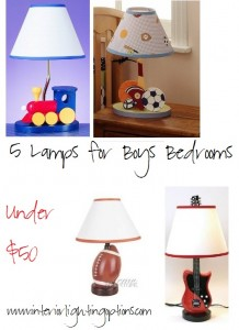 Cheap lamps for boys