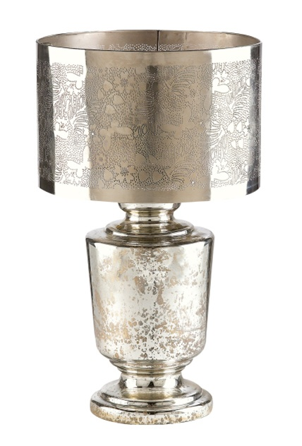 Silver Mercury Glass Table Lamp