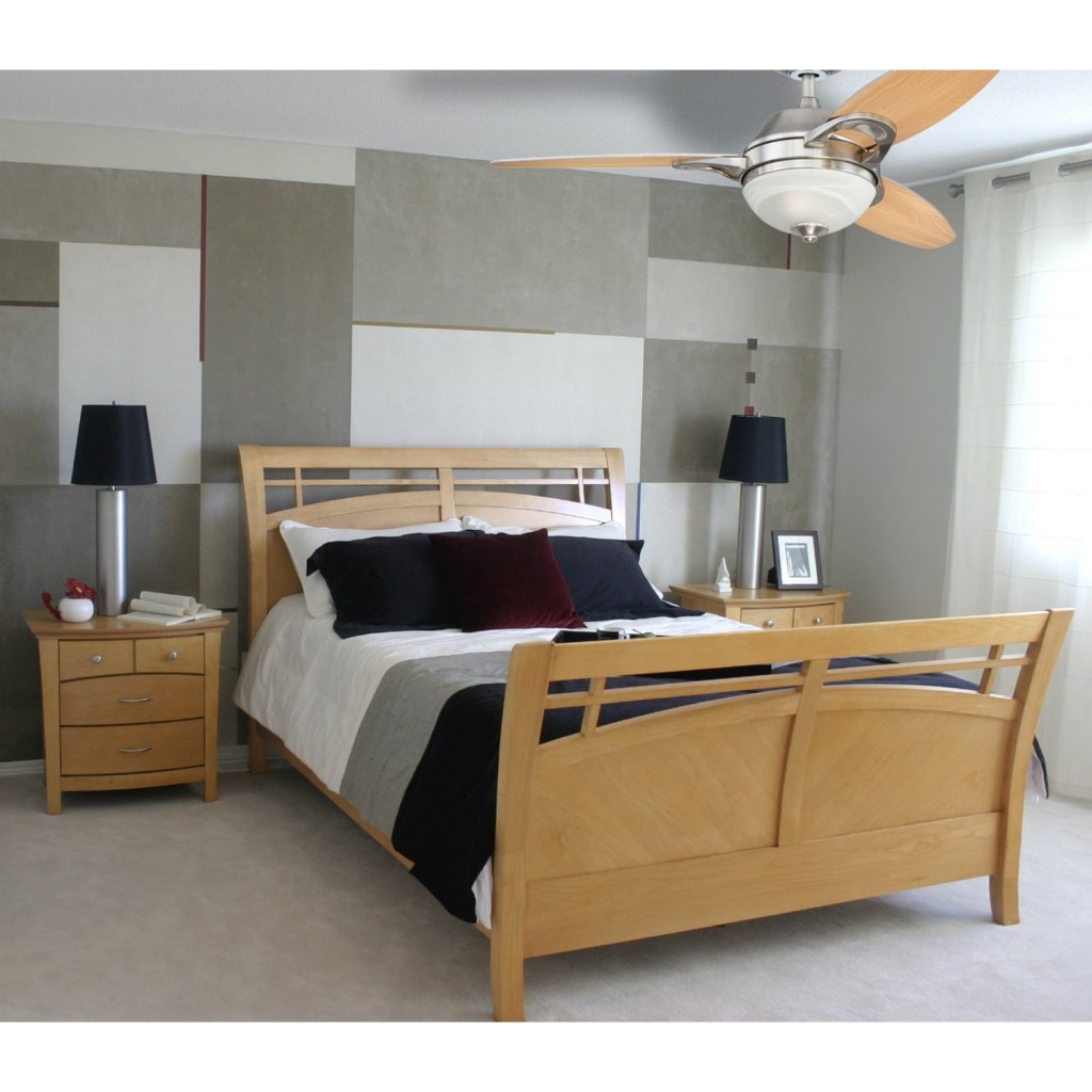 bedroom fan light. led quiet luxury folding ceiling fan light and