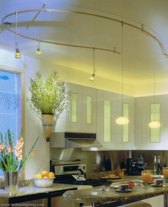 Stylish Kitchen Lighting Ideas: Track Lighting  Interior
