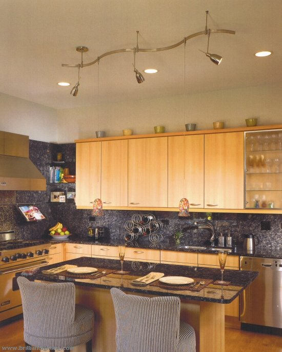 Interior Lighting Options Interior Lighting Options: Stylish Kitchen Lighting Ideas: Track Lighting