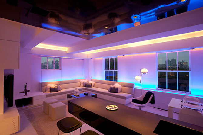 LED living room lighting